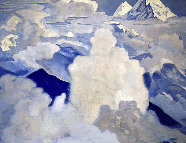 Н.К. Рерих. Белый и Горний. 1924